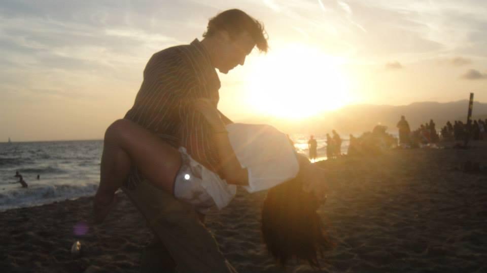 William Zmachinsky dancing on the beach