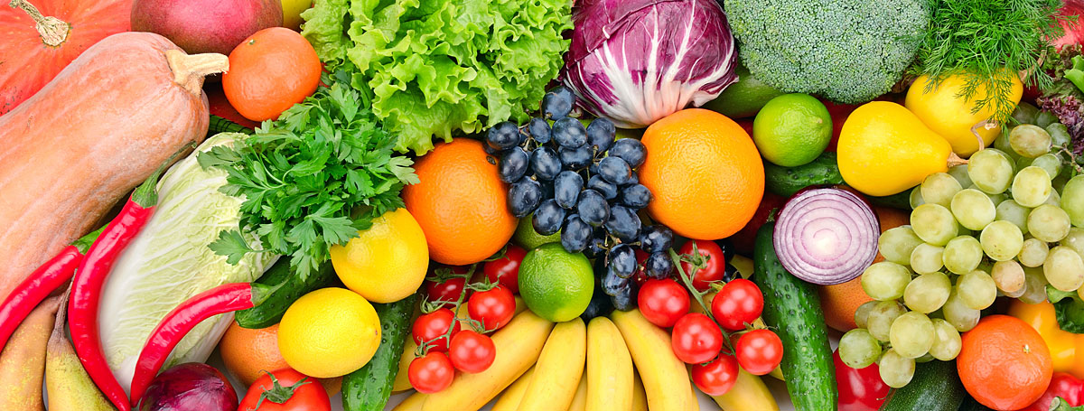 primitive diet with lots of vegetables and some fresh fruits