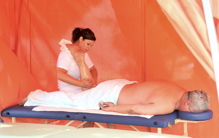 enjoying massage therapy and it's benefits