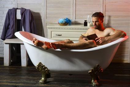 sitz bath in a modern tub